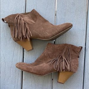 American Eagle Leather Fringe Booties